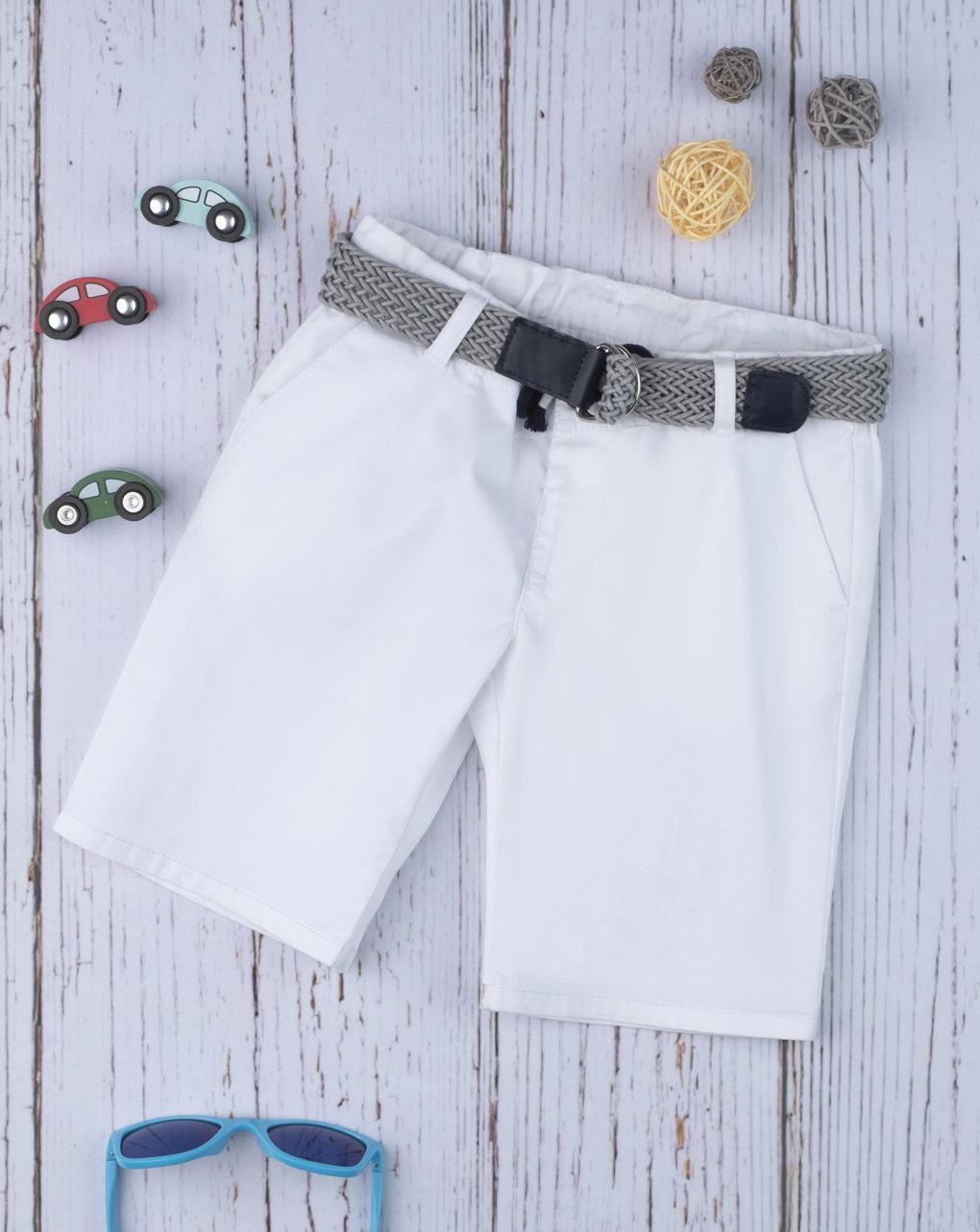 Shorts boy white con cintura - Prénatal