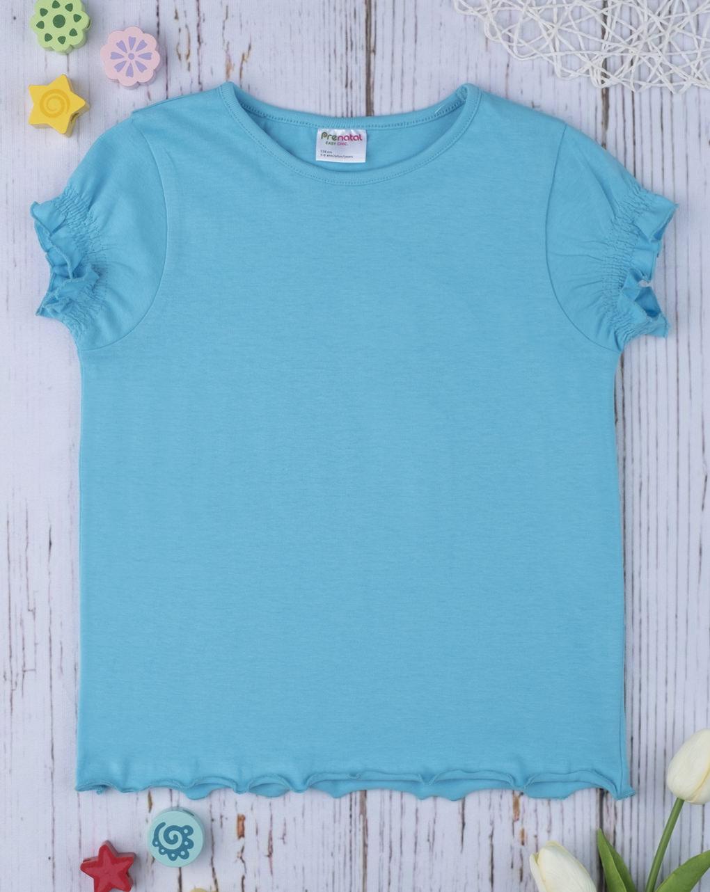 T-shirt girl total azzurro - Prénatal