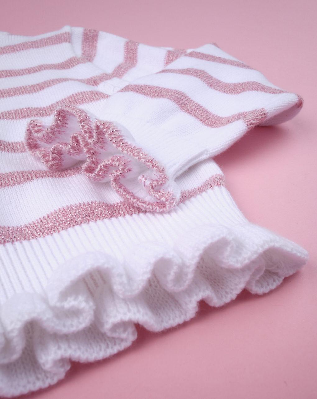 Cardigan bimba rigato rosa denim - Prénatal