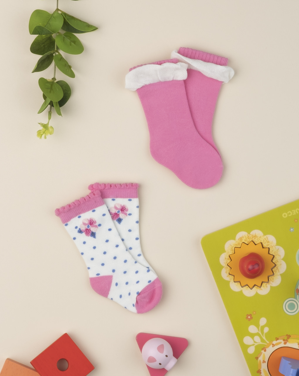 Pack 2 calze girl pink - Prénatal