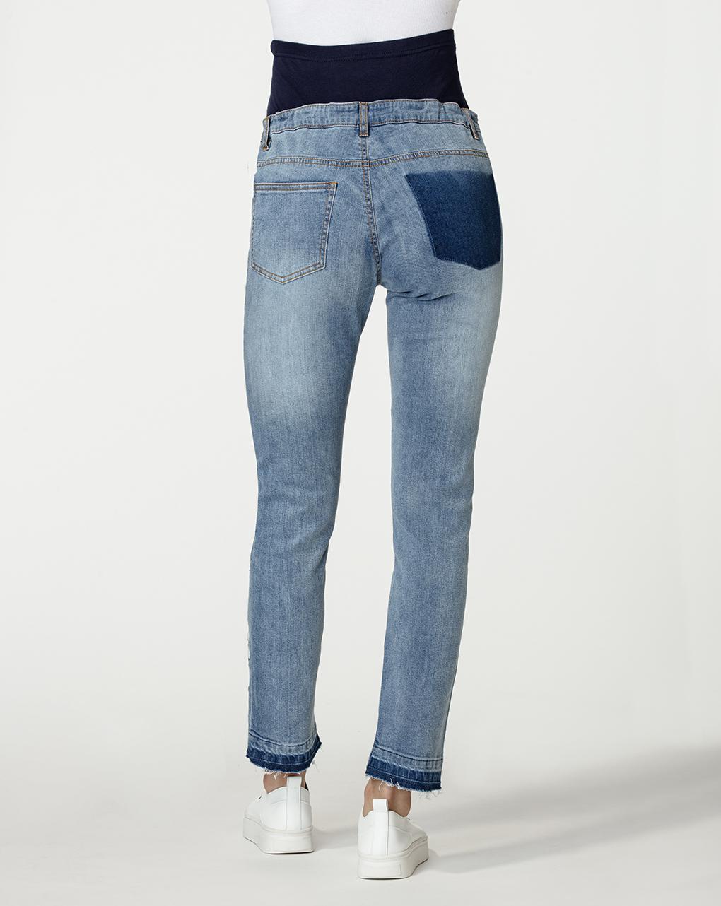 Jeans premaman con ricamo fiori - Prénatal