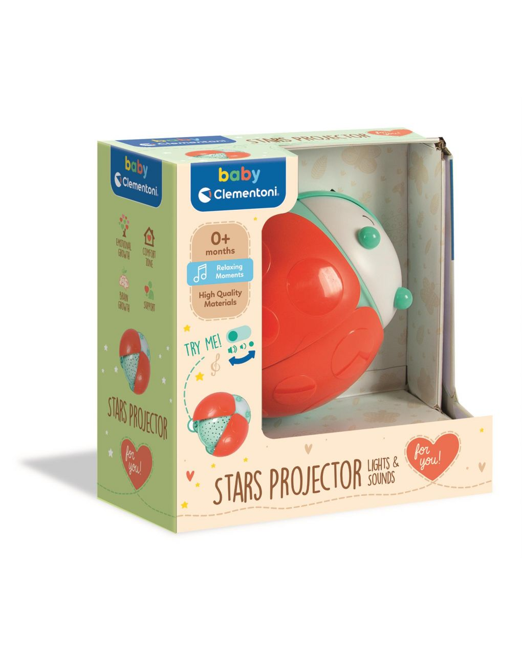 Baby clementoni - light & sounds stars projector - Clementoni