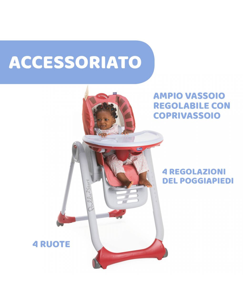 Seggiolone chicco polly2start lion - Chicco