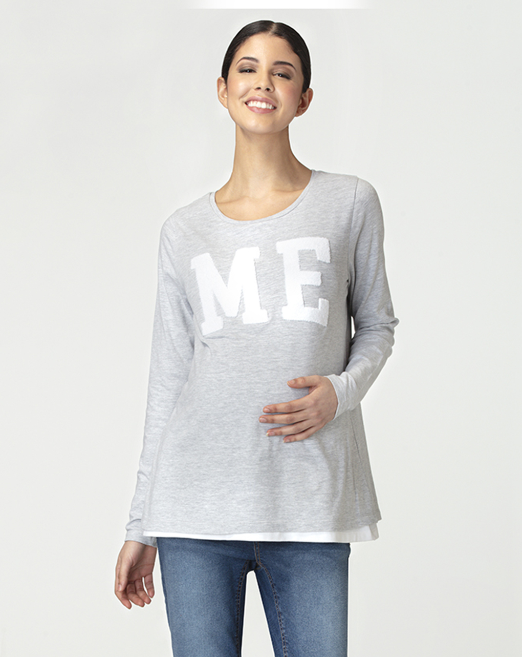 T-shirt allattamento con patch - Prénatal