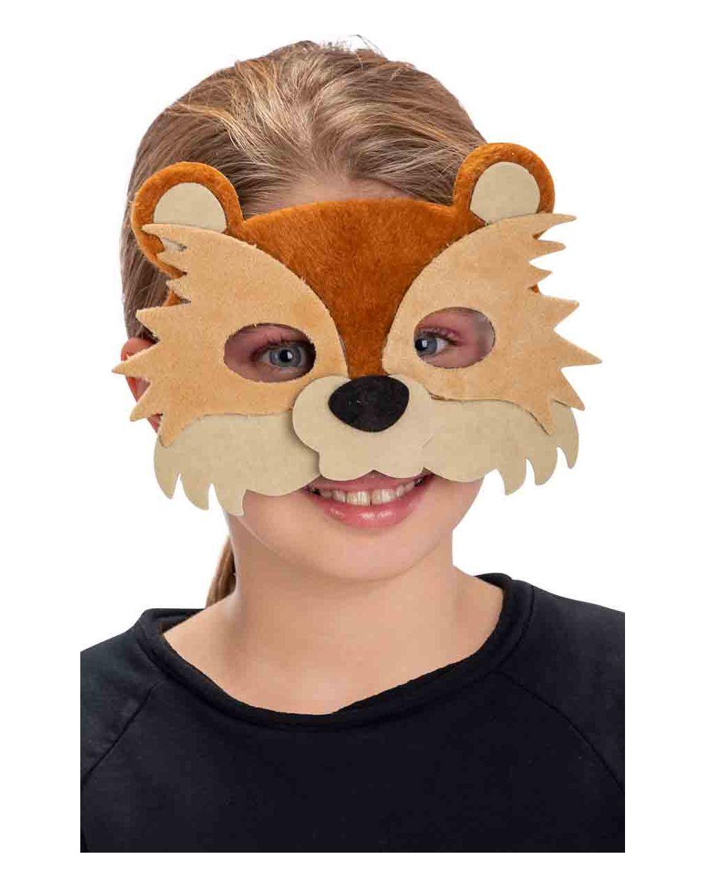 Maschera orsetto in vellutino - Carnival Toys