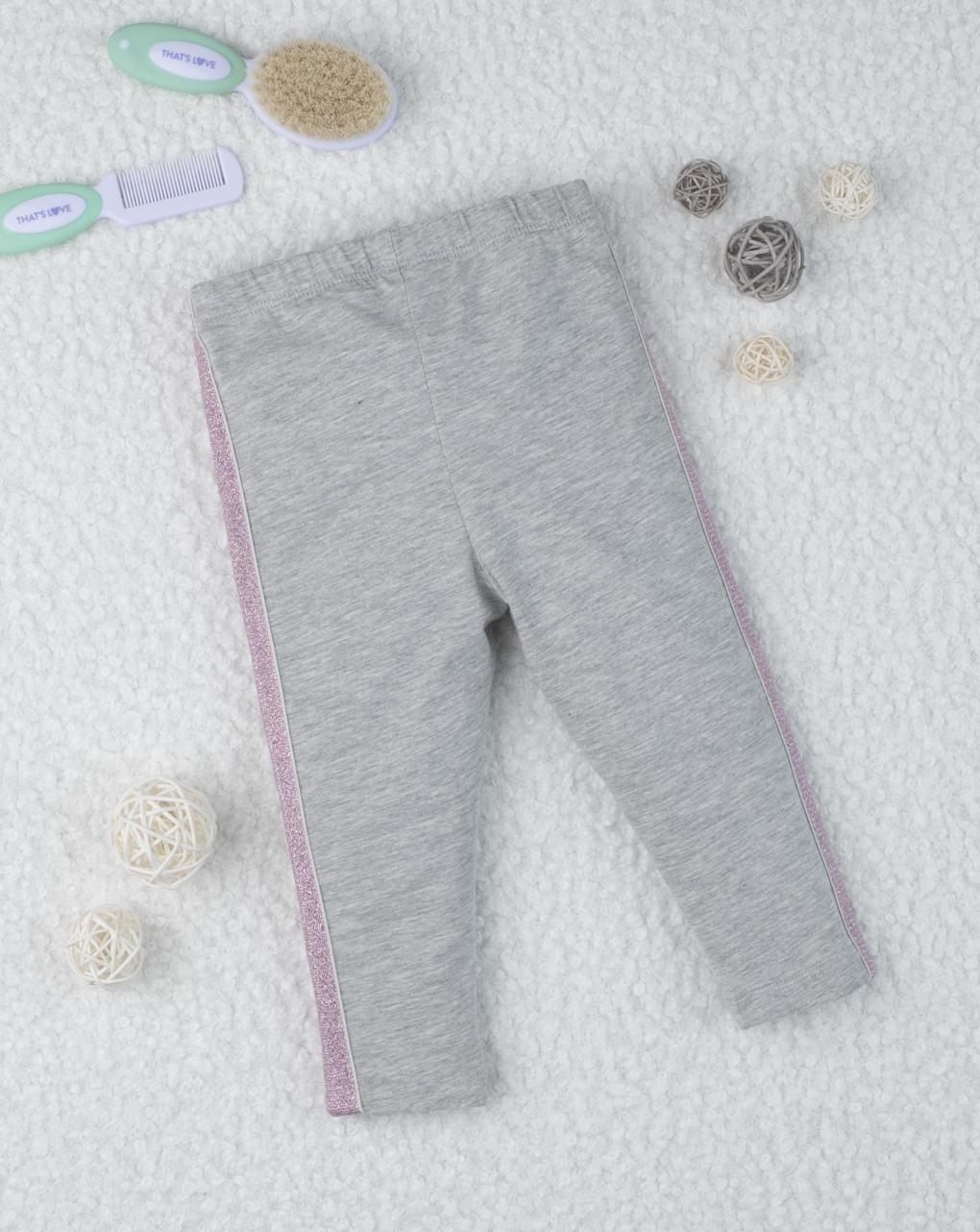 Leggings girl con bande pink - Prénatal