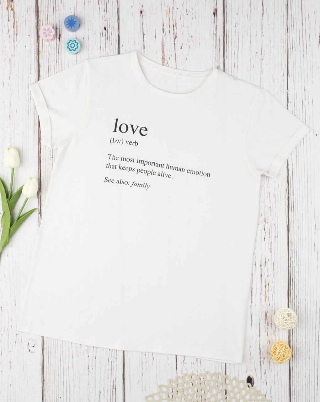 "T-shirt ""love dictionary"" - Prénatal"