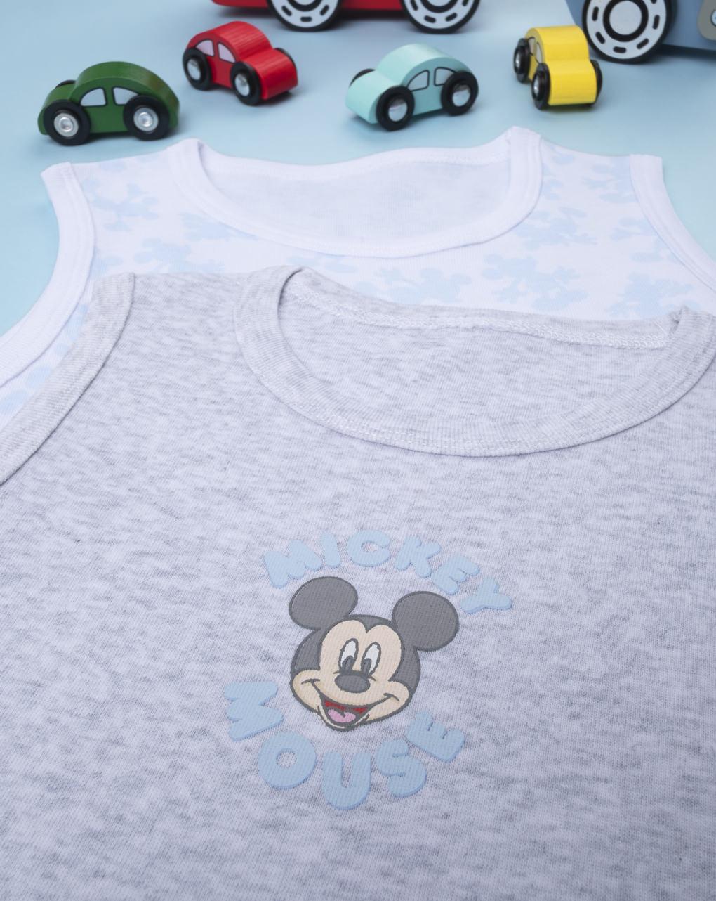 """Pack 2 canotte boy """"mickey mouse"""" - Prénatal"""