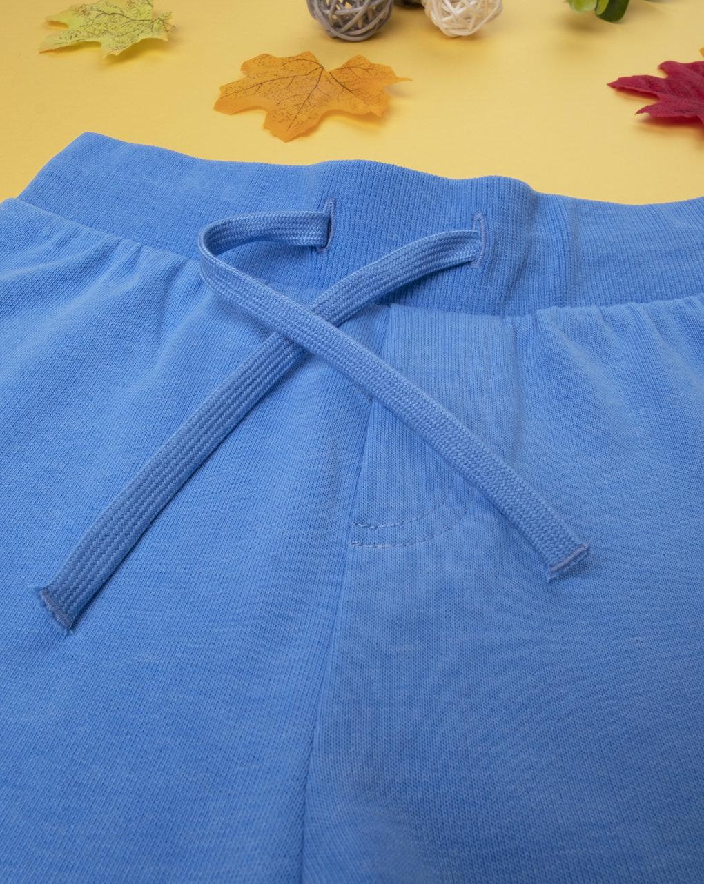 Pantalone felpato boy azzurro intenso - Prénatal