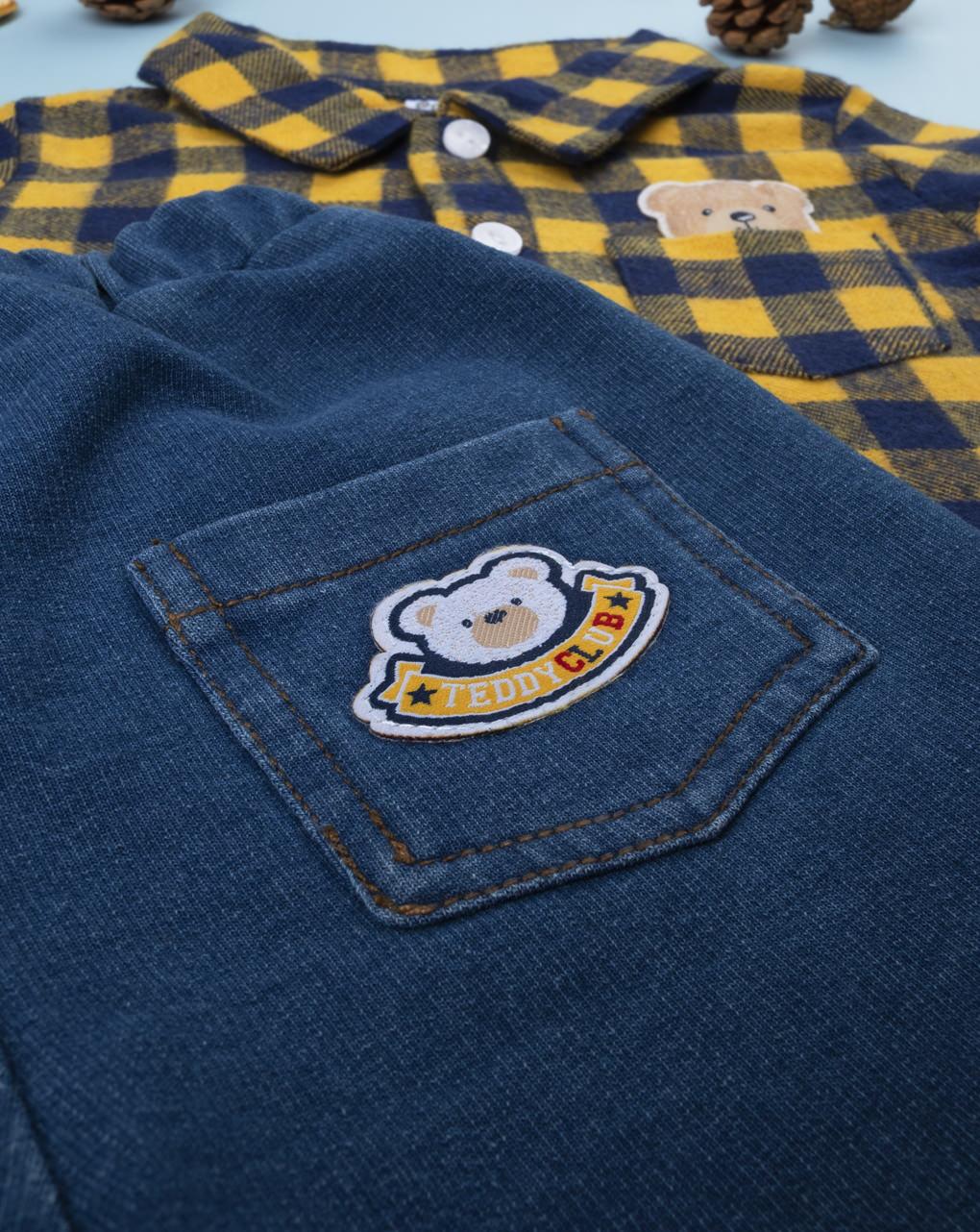 Completo boy body flanella e jeans - Prénatal