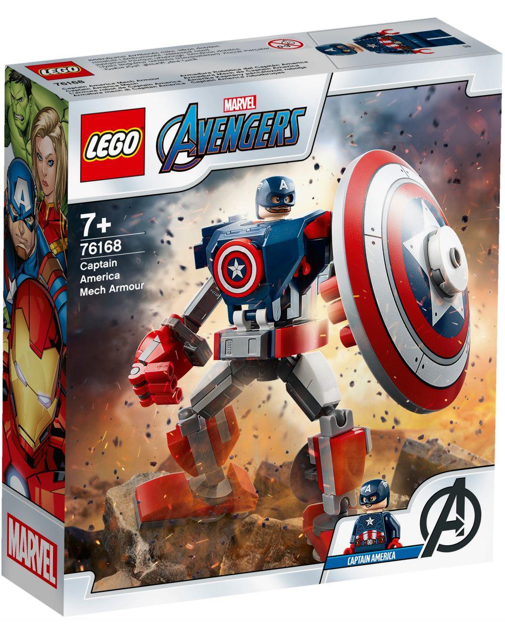 Lego super heroes - armatura mech di capitan america - 76168 - LEGO