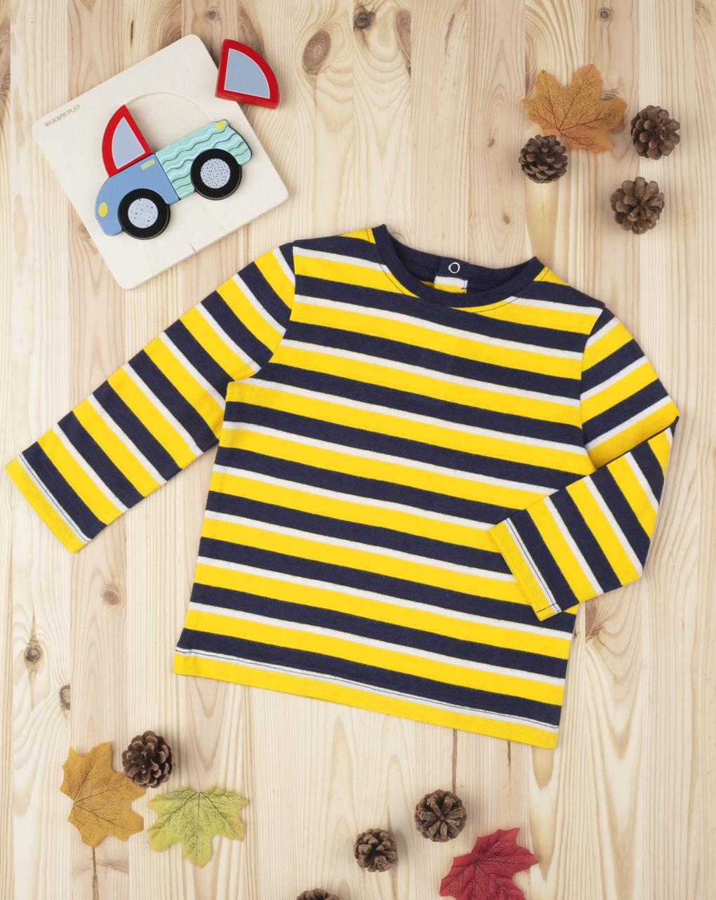 "T-shirt boy rigata ""gialla"" - Prénatal"
