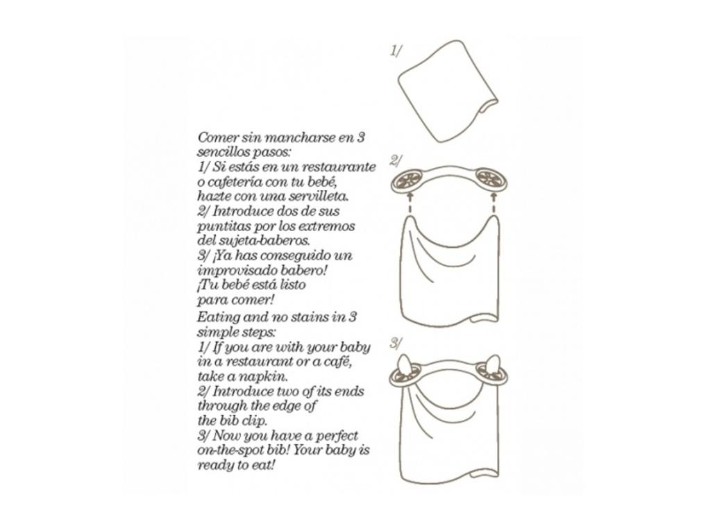 Set portaposate + cucchiaio + clip bavaglia  blu - Suavinex