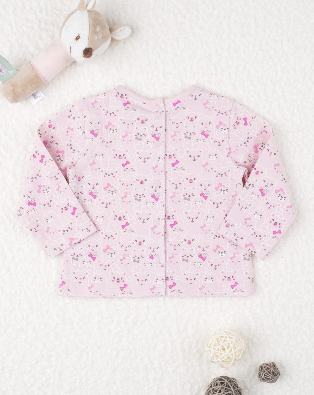 "T-shirt jersey girl ""gattini pink"" - Prénatal"