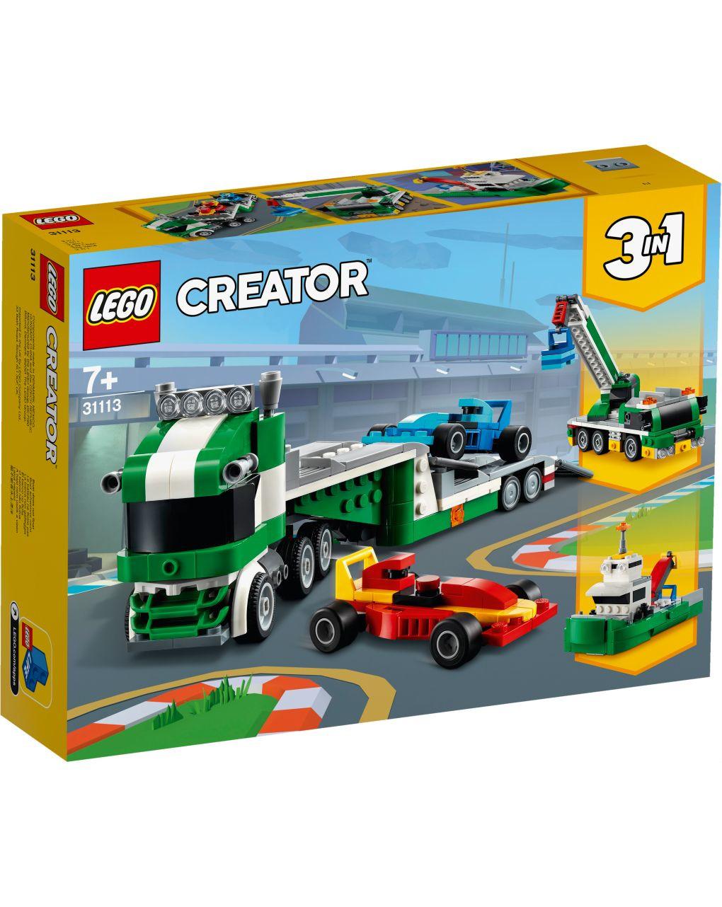 Lego creator - trasportatore di auto da corsa - 31113 - LEGO