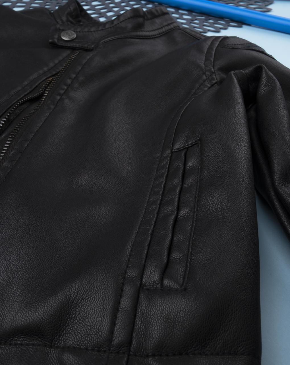 Giubbino finta pelle black - Prénatal
