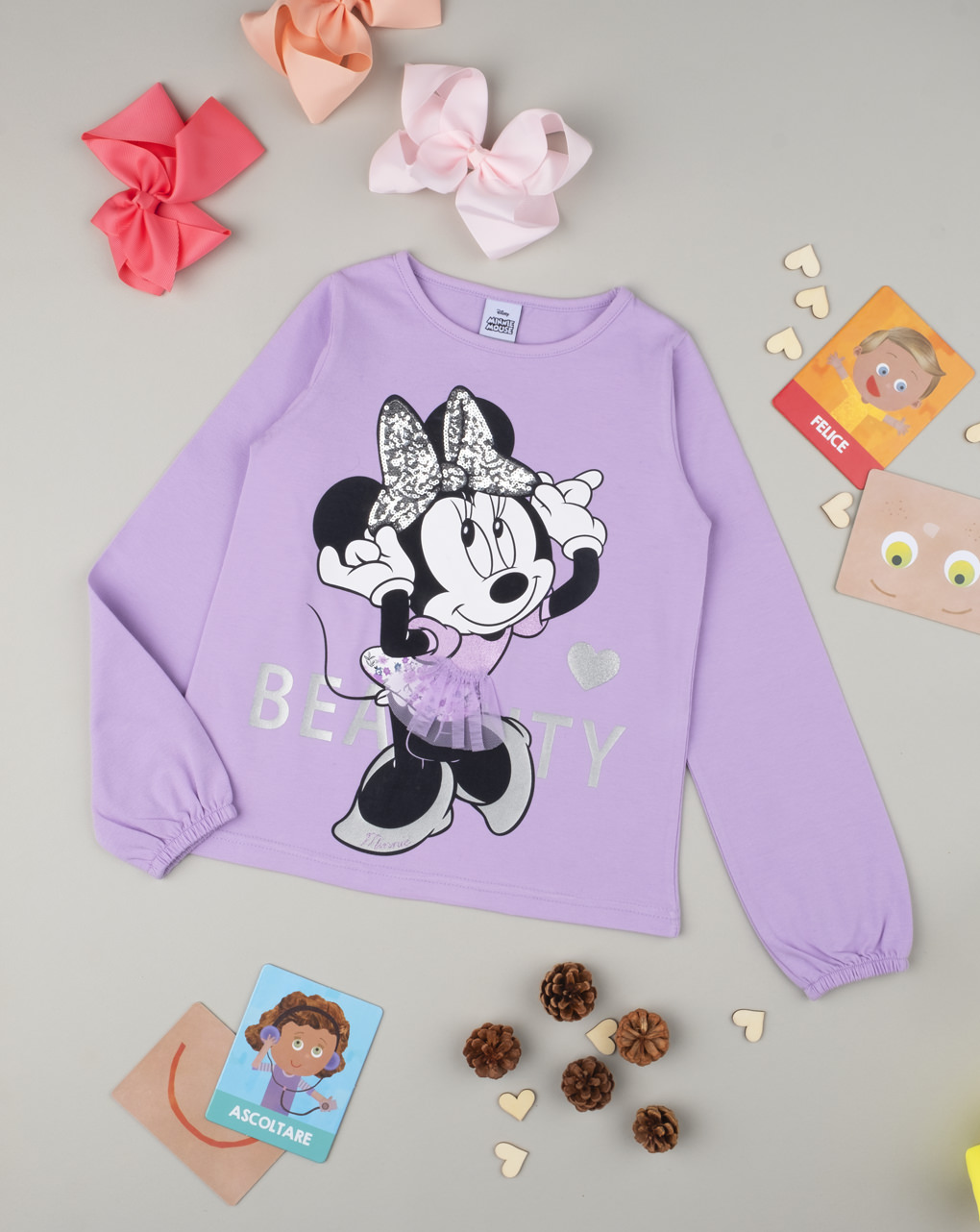 """T-shirt girl """"minnie"""" lilla - Prénatal"""