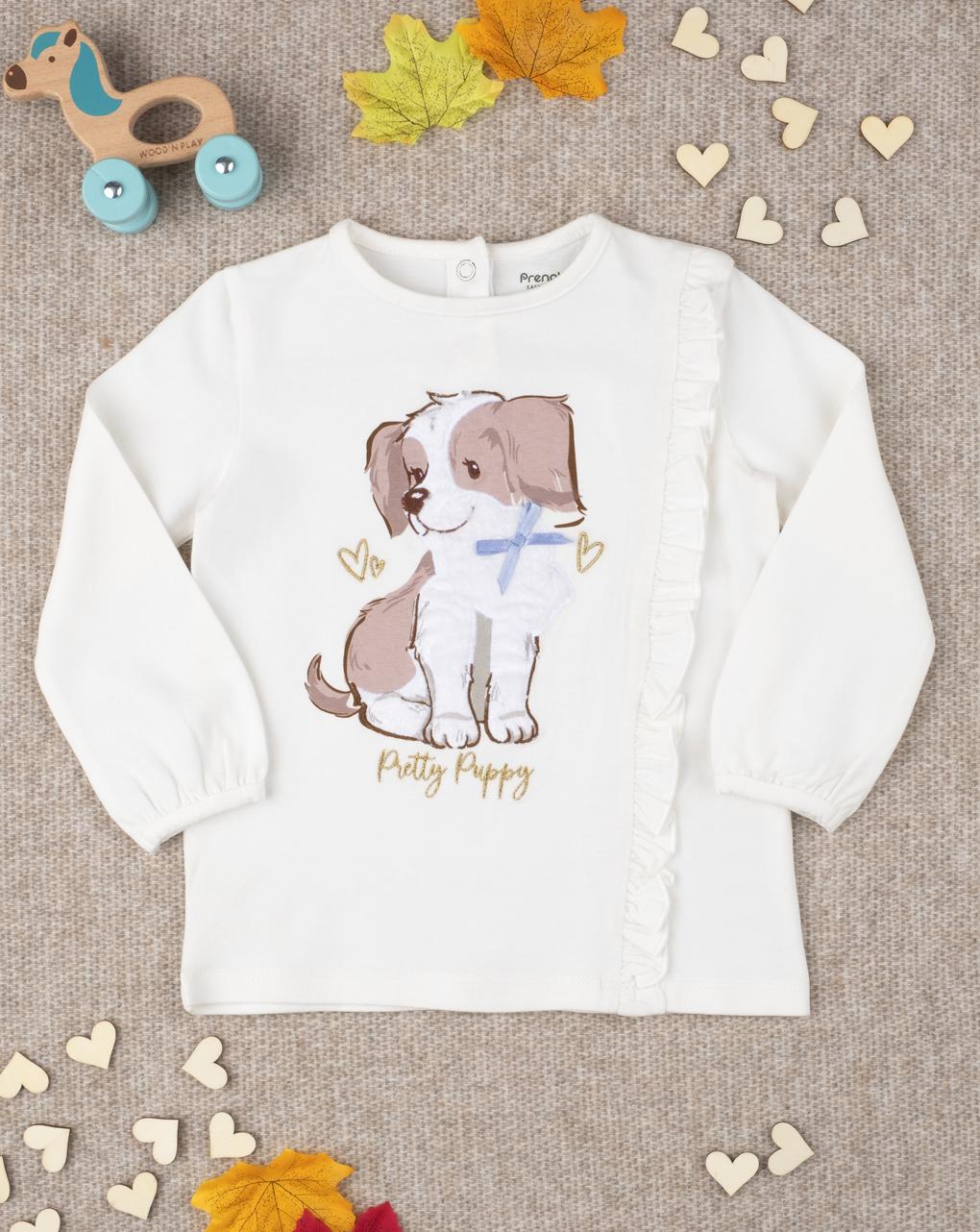 "T-shirt girl stampata ""pretty puppy"" - Prénatal"