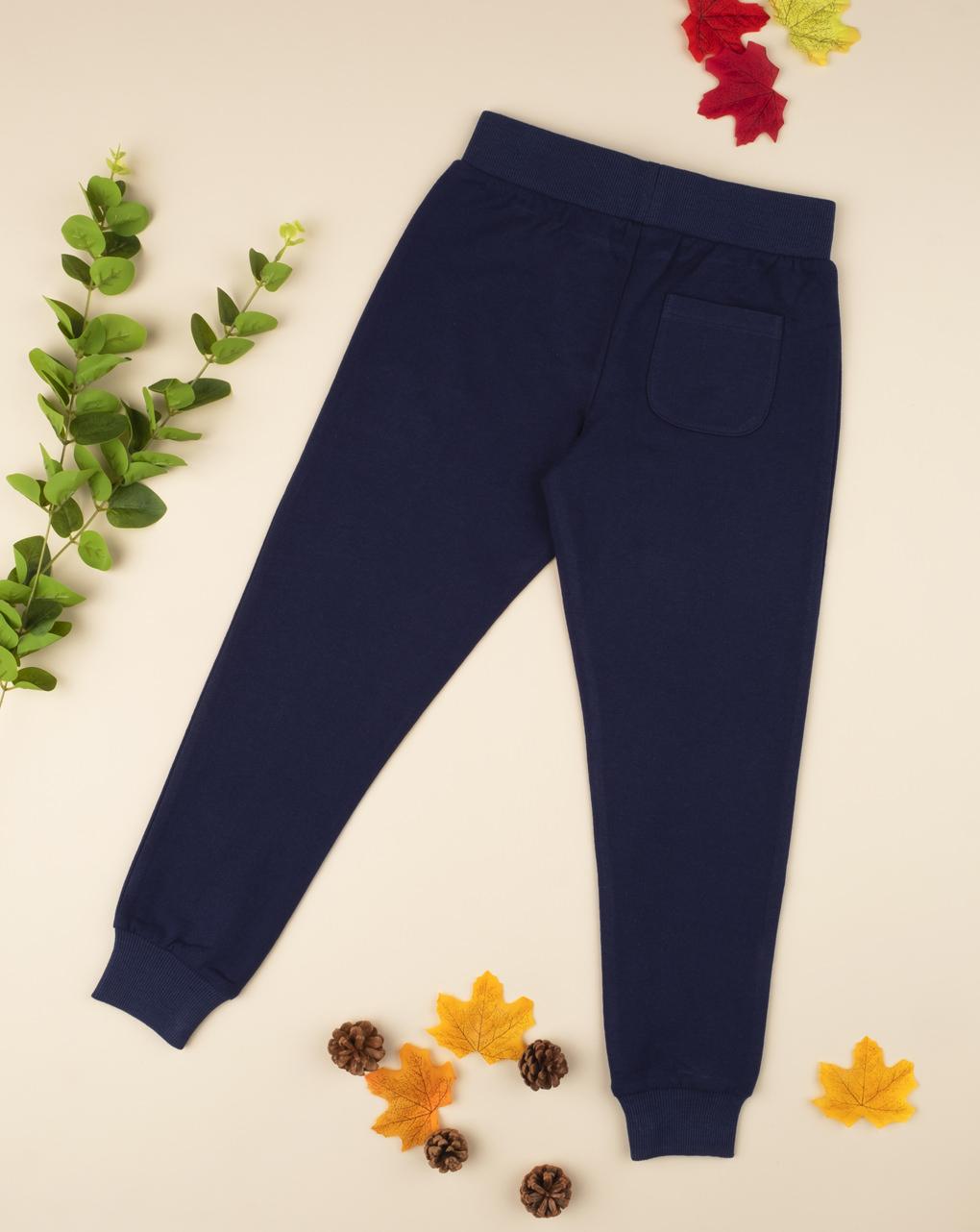 Pantalone felpato girl blu - Prénatal