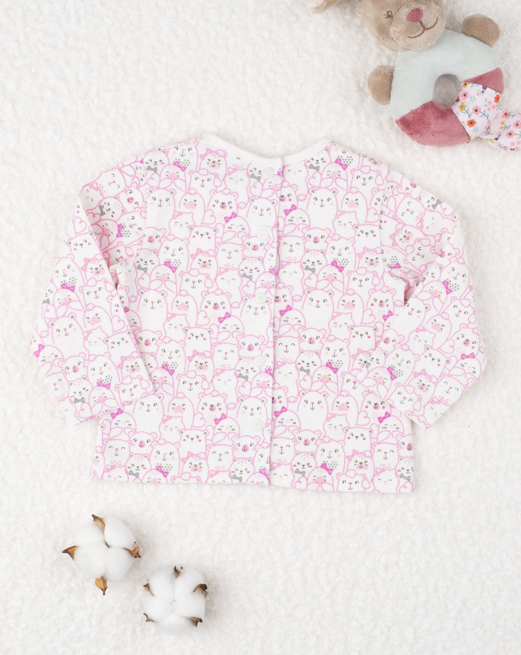 "T-shirt jersey girl ""gattini white"" - Prénatal"