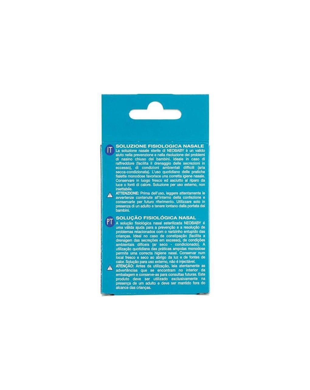 Soluzione fisiologica nasale 0m+  15 x 5 ml - Neo Baby