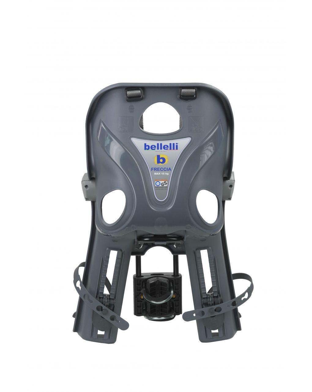 Seggiolino bici anteriore freccia b-fix dark grey luxe - Bellelli