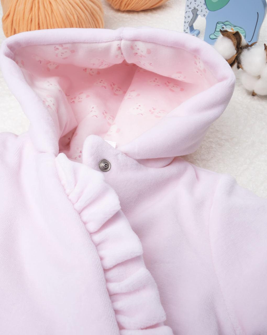 Giubbino girl ciniglia pink - Prénatal