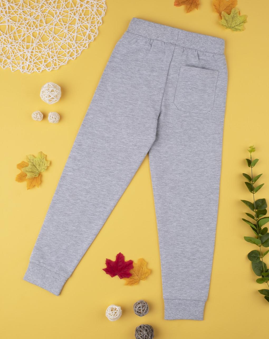 Pantalone felpato boy grigio chiaro - Prénatal