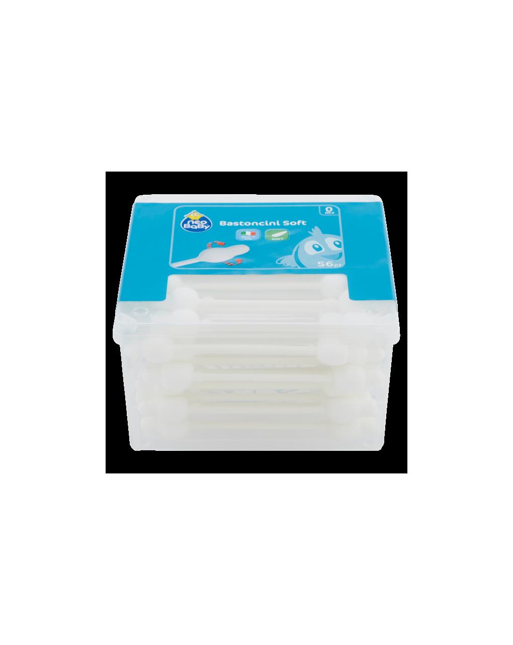 Bastoncini cotton fioc 56 pz - Neo Baby