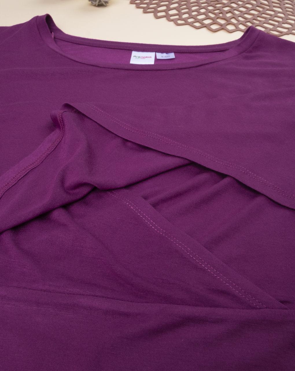 T-shirt allattamento ciclamino - Prénatal
