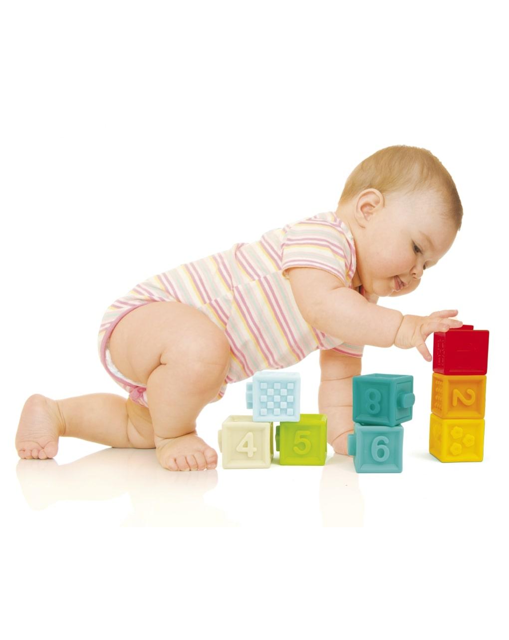 3 in 1 baby soft toys: 8 cune + 4 animal + 8 ball - Prénatal