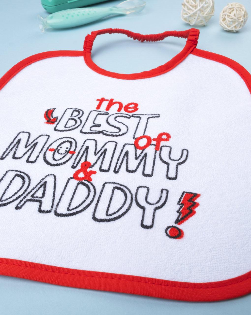 "Bavaglino boy ""the best mommy & daddy"" - Prénatal"