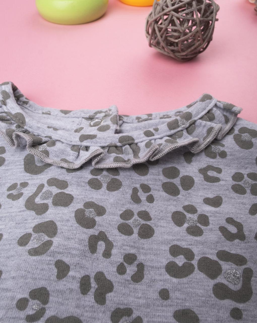 Body girl leopardato grey - Prénatal