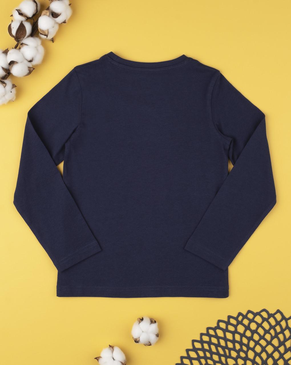 T-shirt tinta unita blu - Prénatal