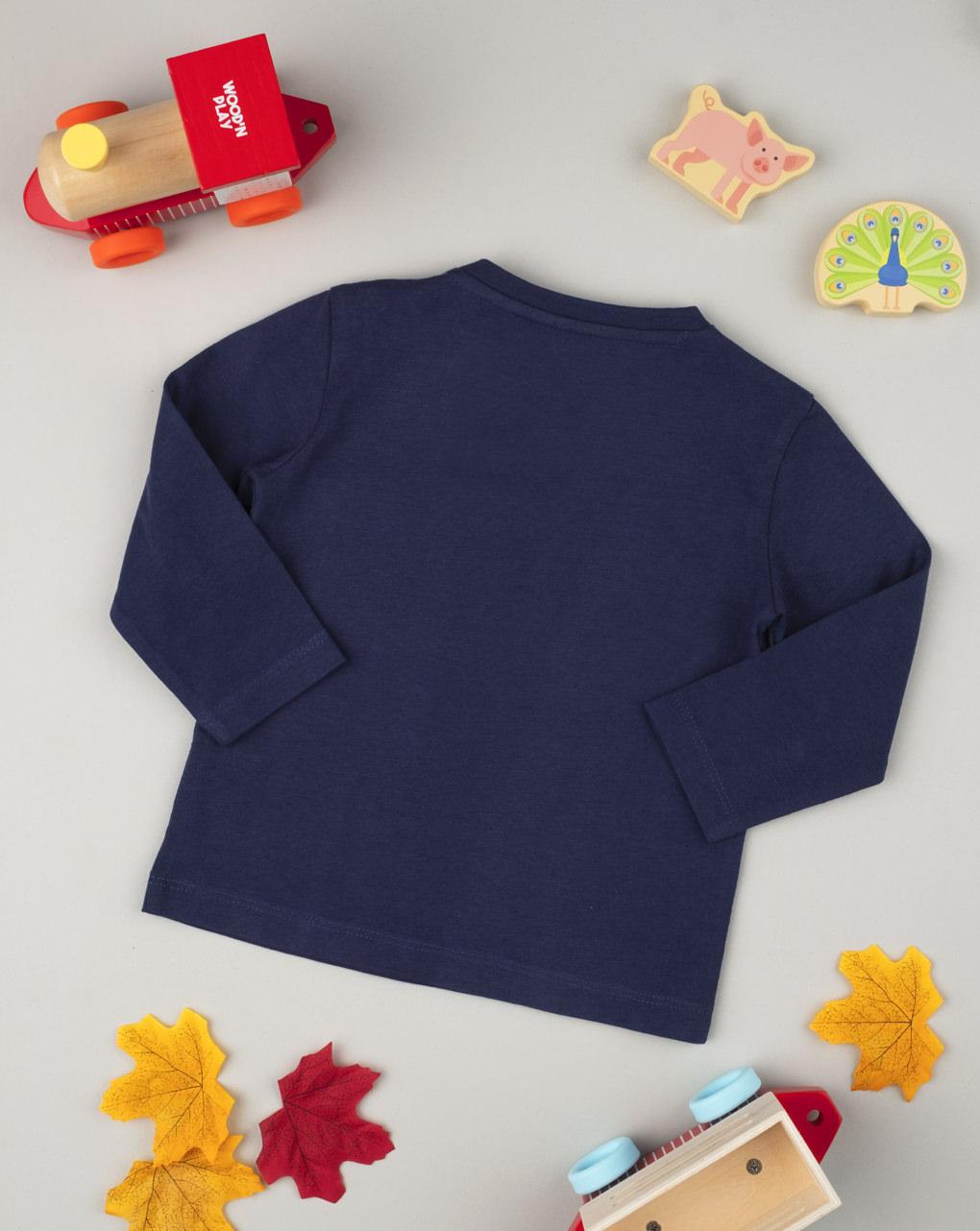 T-shirt manica lunga boy blu - Prénatal