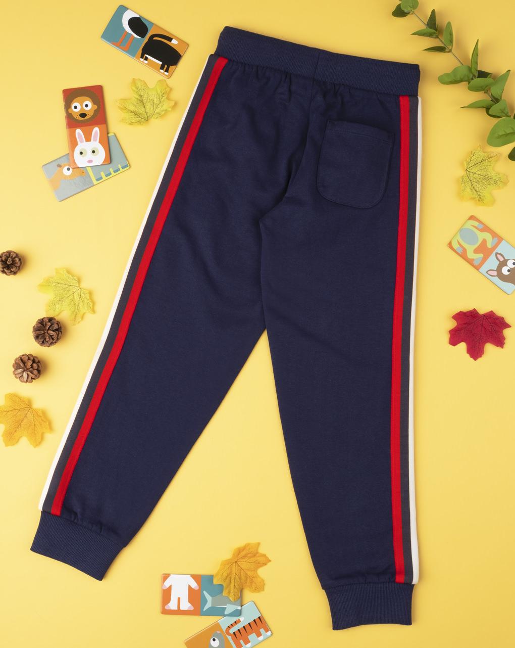 Pantalone felpato boy blu - Prénatal