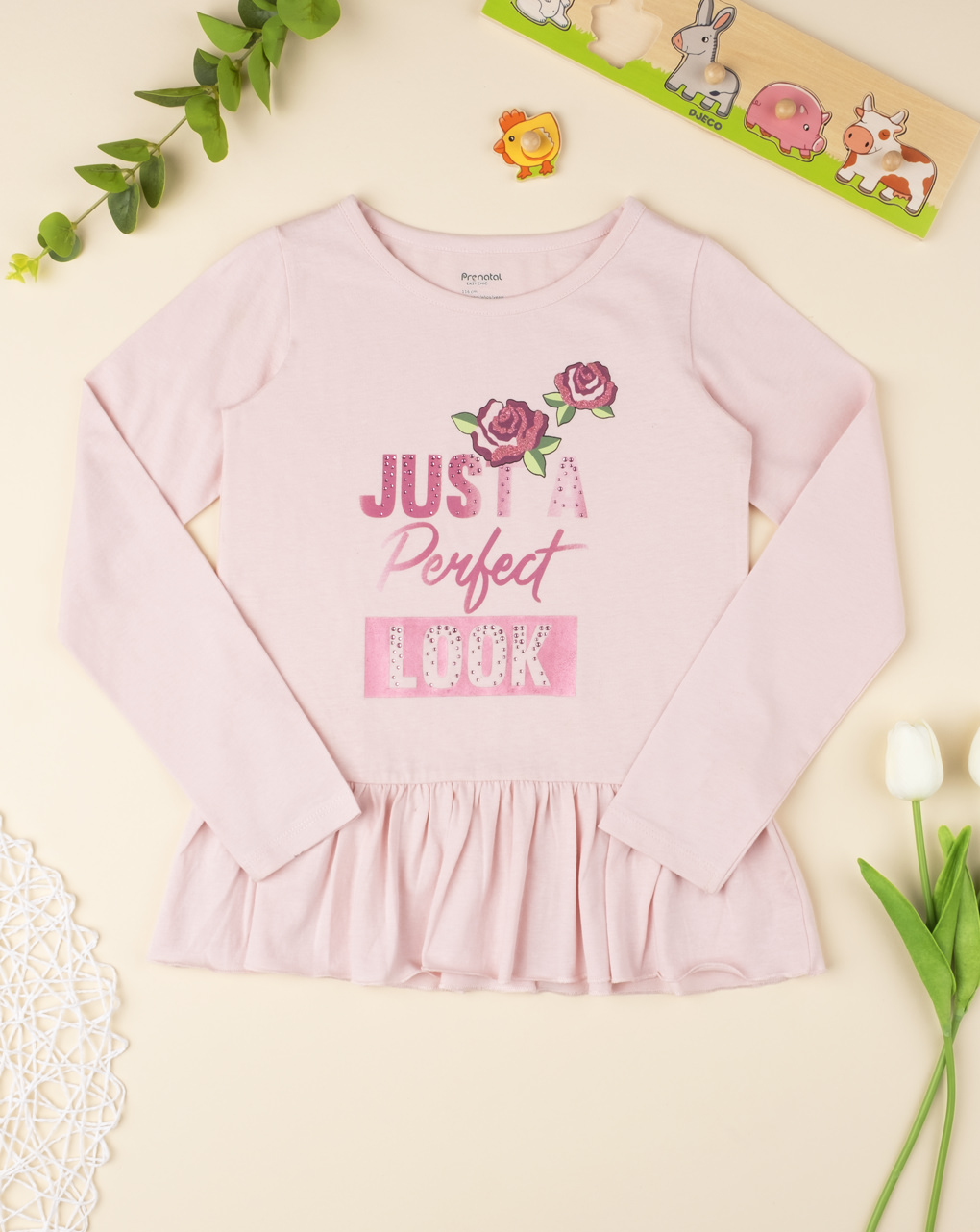 "T-shirt girl ""just a look perfect"" - Prénatal"