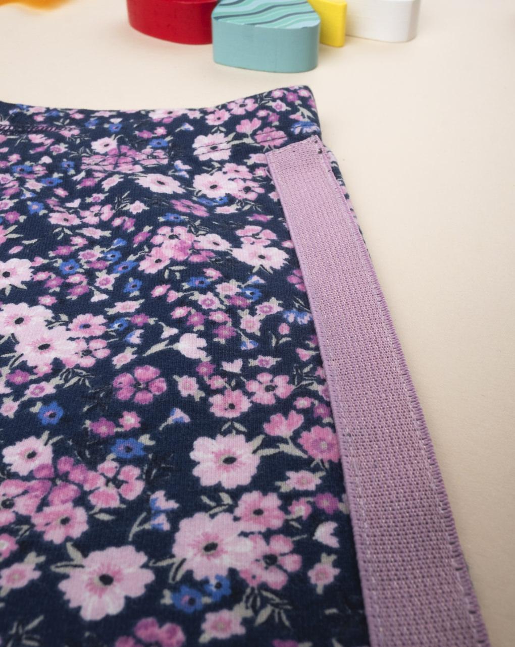 Leggings flower lilla banda laterale - Prénatal