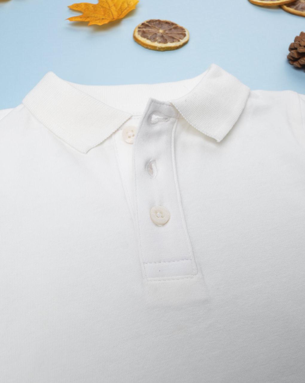 Body polo bianco boy - Prénatal