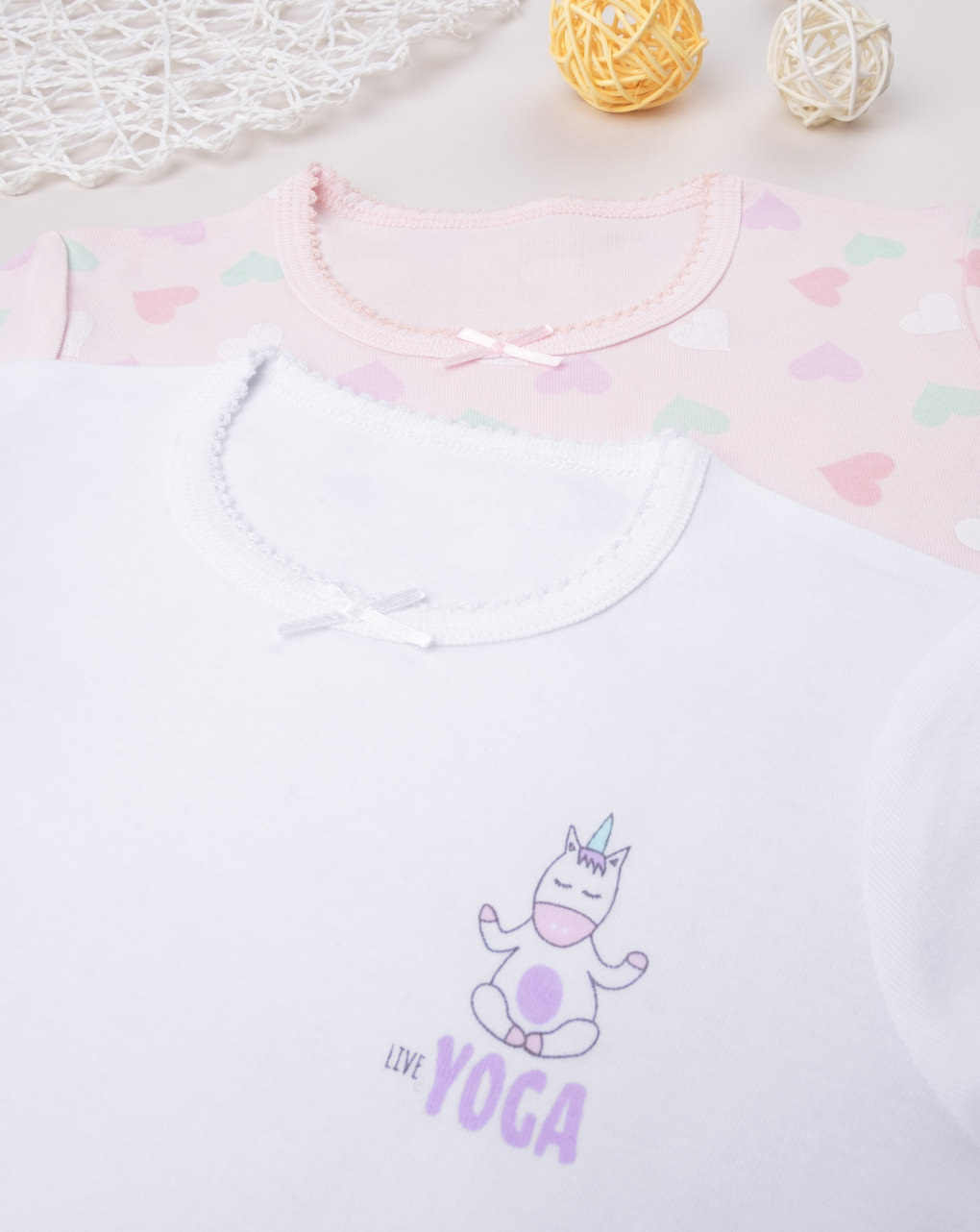 "Pack 2 t-shirt intime girl ""cuori"" - Prénatal"