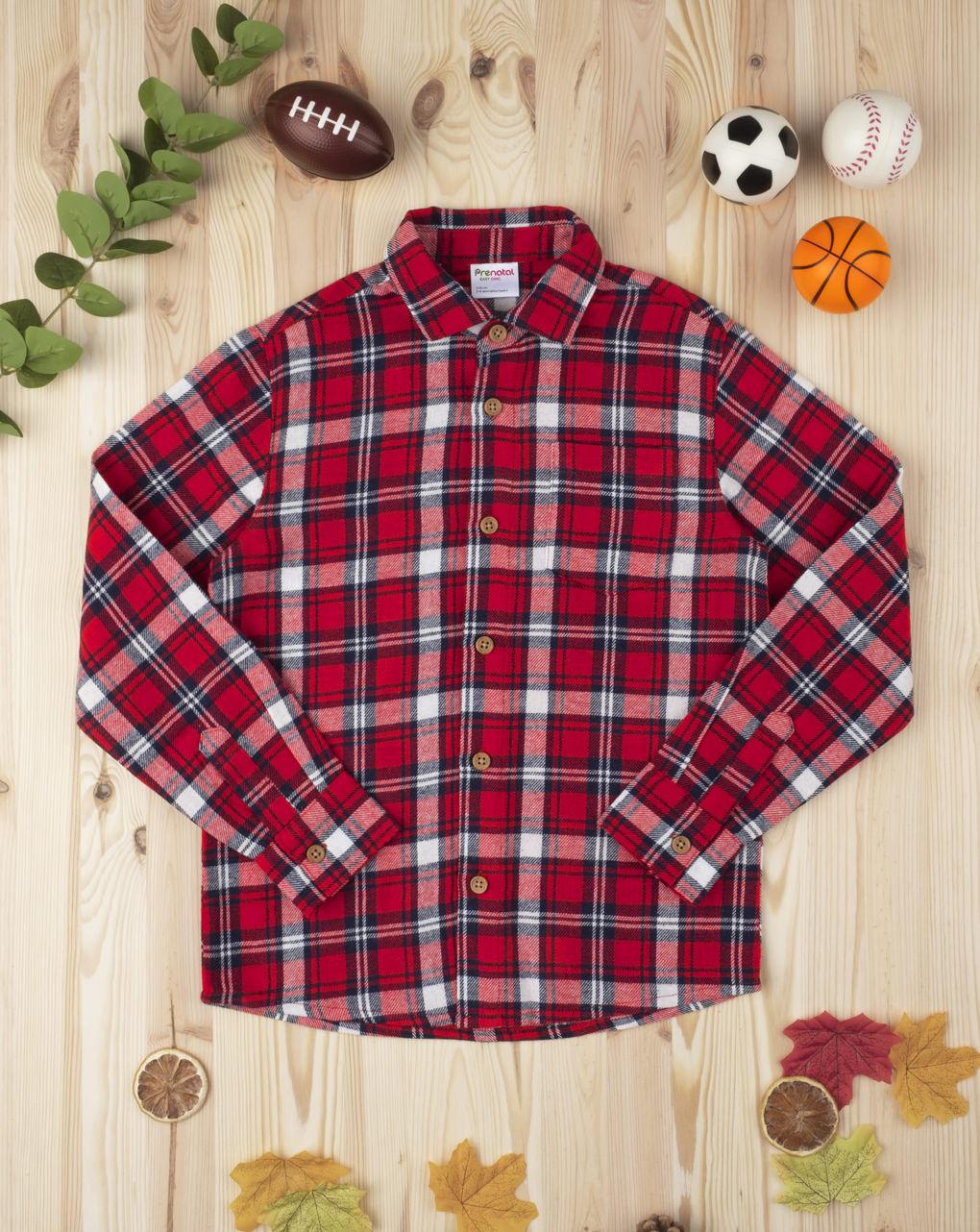 Camicia scozzese kid boy red - Prénatal