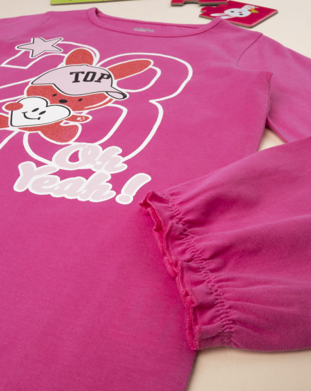 "T-shirt girl pink ""oh yeah"" - Prénatal"