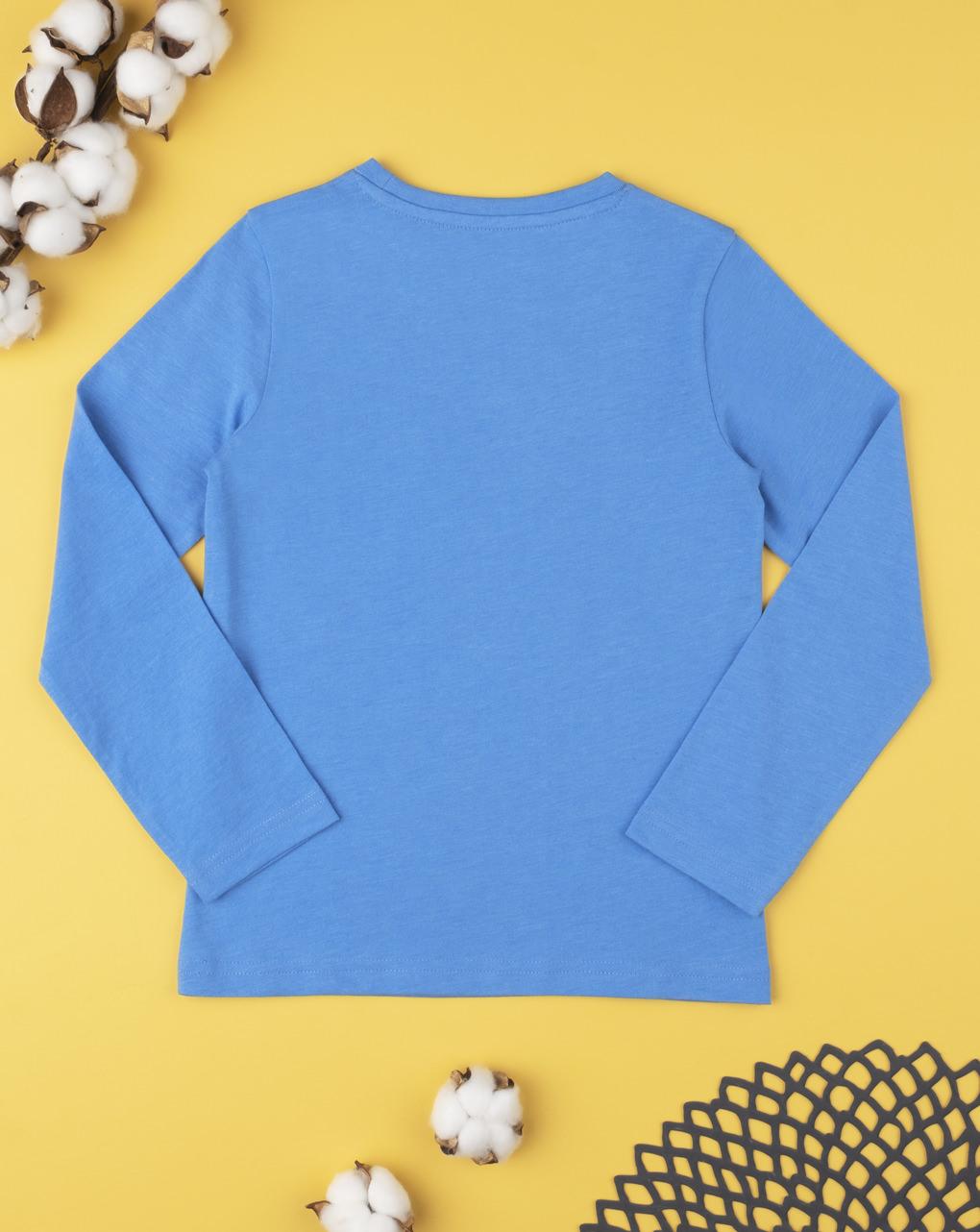 T-shirt tinta unita azzurro - Prénatal