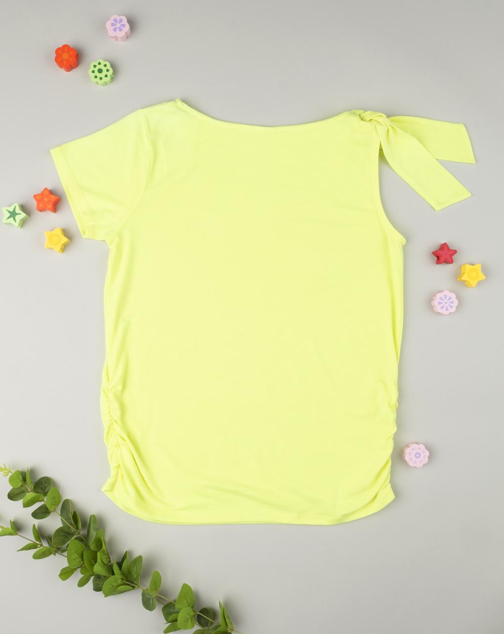 T-shirt con nodo yellow - Prénatal