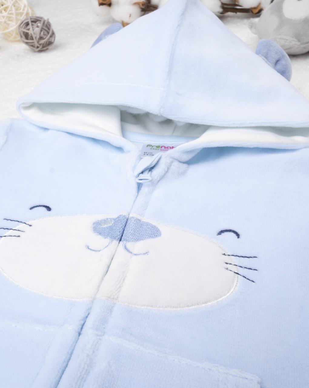 Felpa boy azzurro - Prénatal