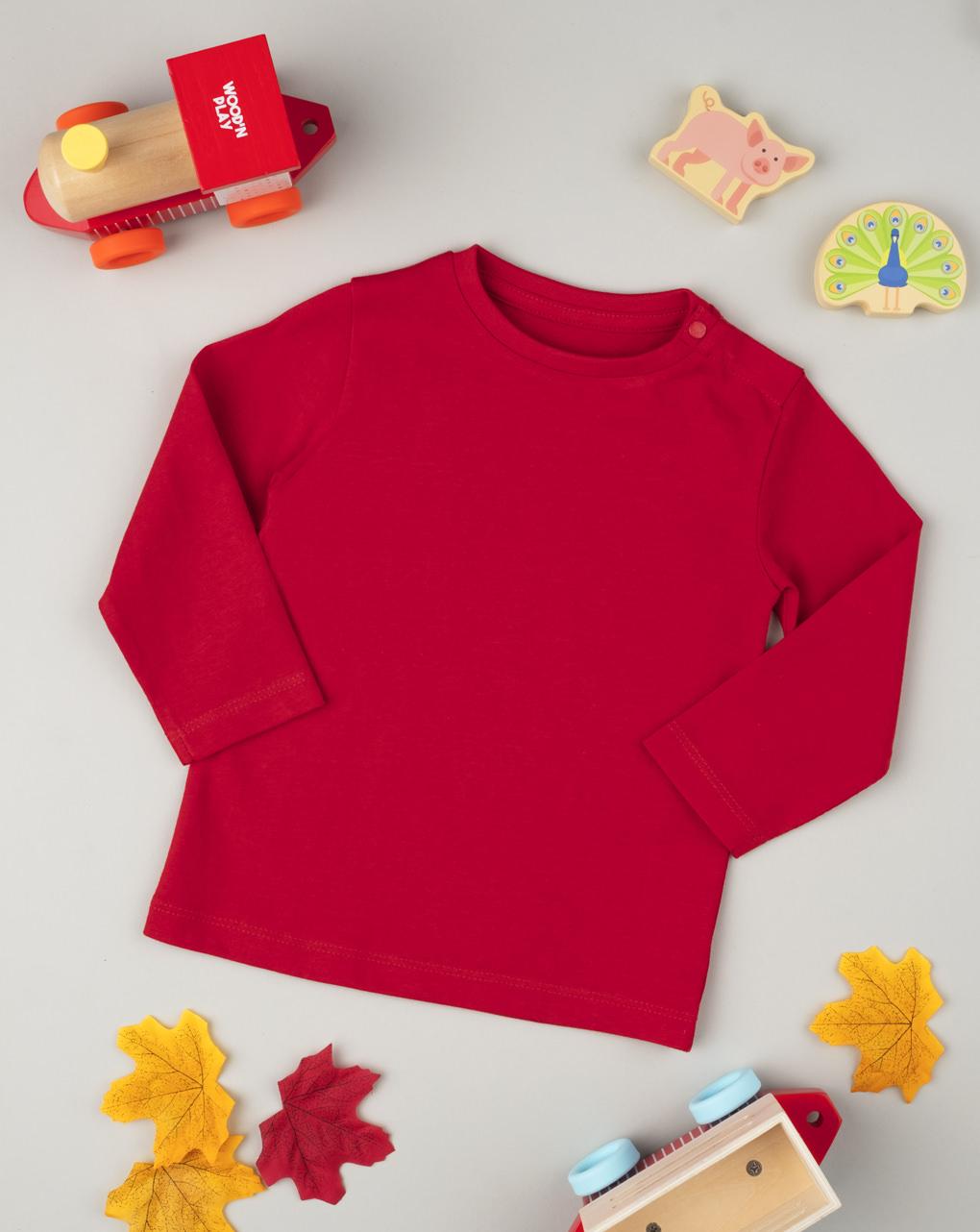 T-shirt manica lunga boy red - Prénatal