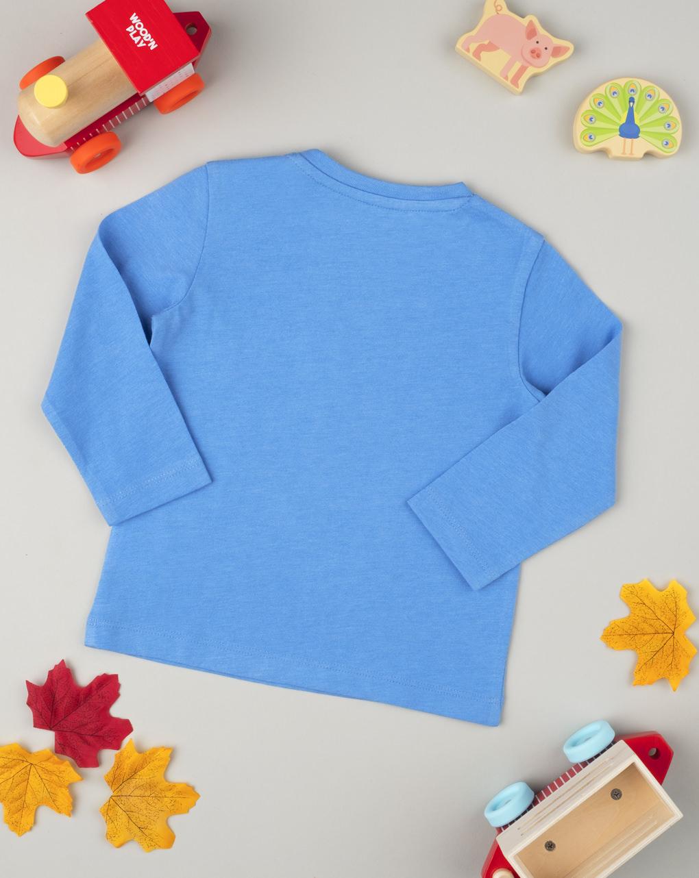 T-shirt manica lunga boy azzurro - Prénatal