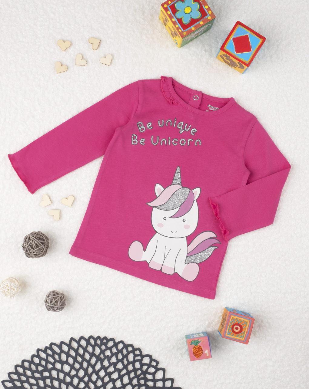 """T-shirt girl """"be unique be unicorn"""" - Prénatal"""
