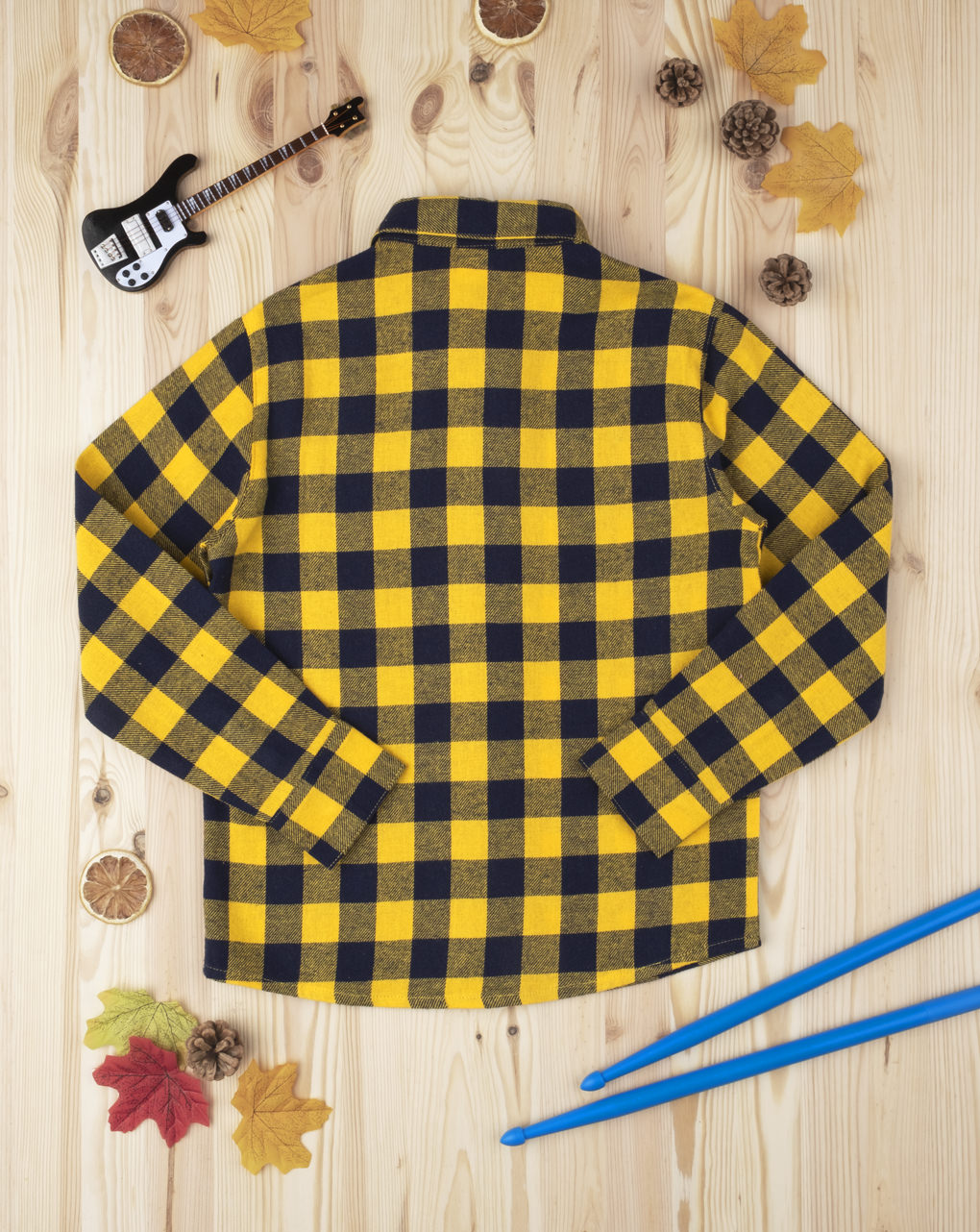 Camicia scozzese kid boy yellow - Prénatal