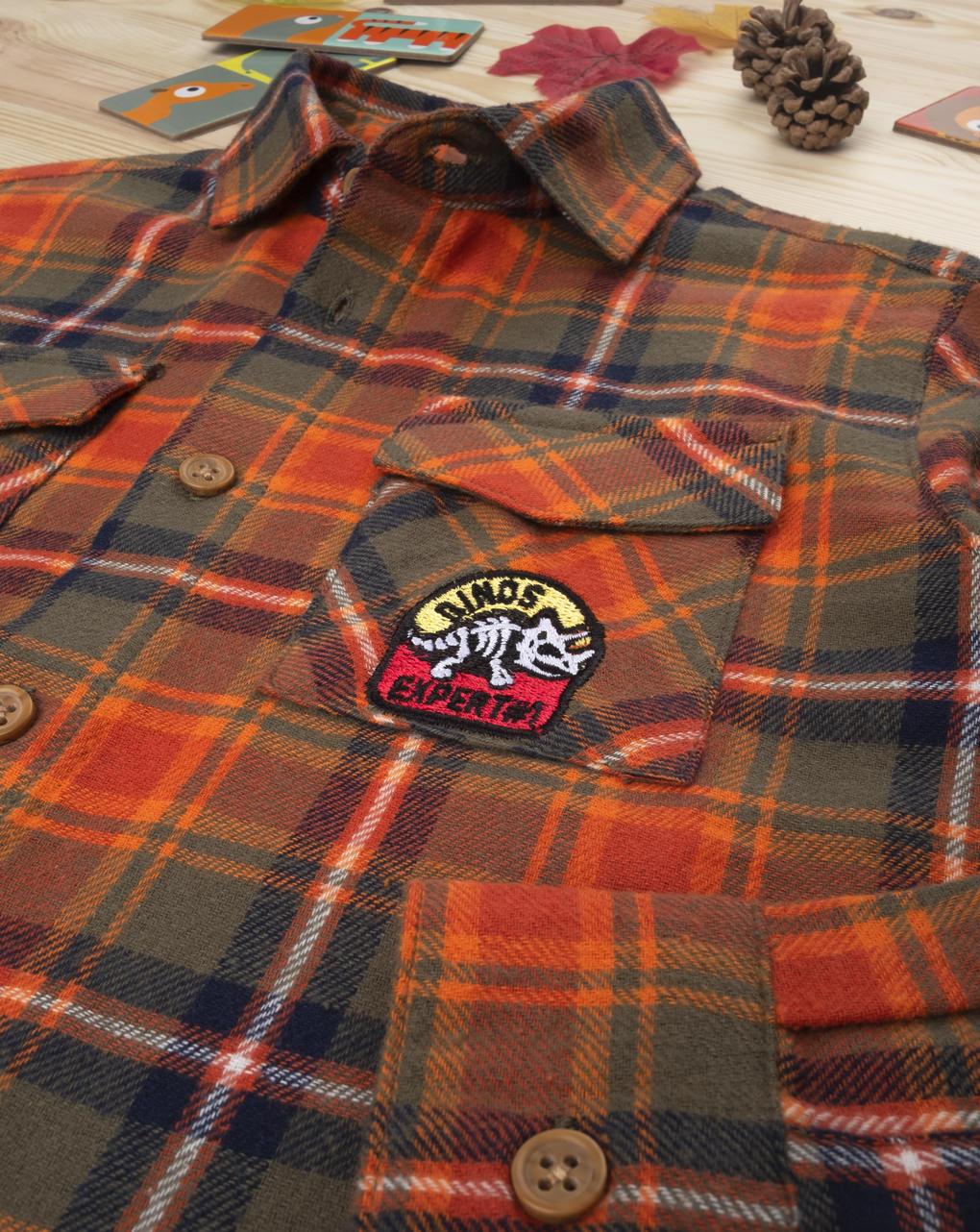 Camicia scozzese kid boy orange - Prénatal